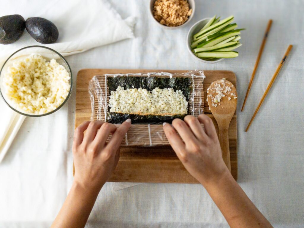 moresweetthansalty.com-keto-friendly-sushi-cauliflower-rice