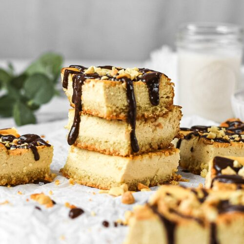 moresweetthansaly.com-keto -cheesecake-squares-peanut-butter-squares-creamy-chocolate